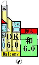 東京都足立区舎人2丁目の賃貸マンションの間取り