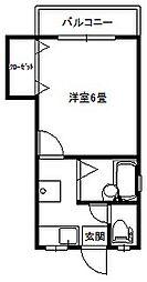 パール大倉山[202号号室]の間取り