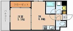 ラファセ美野島[4階]の間取り