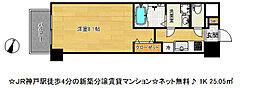 アドバンス神戸ラフィナート[15階]の間取り