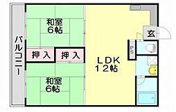 フットワーク空港南[5階]の間取り