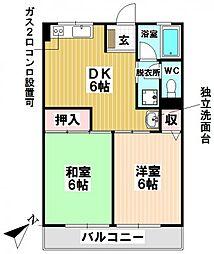 愛知県名古屋市瑞穂区彌富町字清水ケ岡の賃貸アパートの間取り
