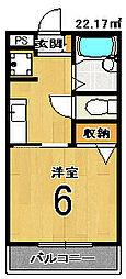 京都府京都市西京区桂坤町の賃貸マンションの間取り