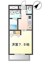 (仮)那覇市三原1K新築マンション 3階1Kの間取り