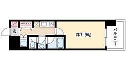 CASAα名駅南 9階1Kの間取り