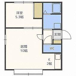 ASAHI VILLAGE[2階]の間取り