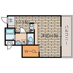 兵庫県神戸市長田区神楽町6丁目の賃貸マンションの間取り