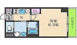 EC梅田北IIゼニス[8階]の間取り