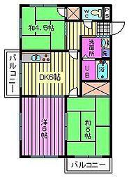 埼玉県さいたま市浦和区瀬ヶ崎2丁目の賃貸マンションの間取り