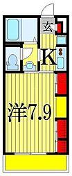 リブリ・プランドールMA 3階1Kの間取り