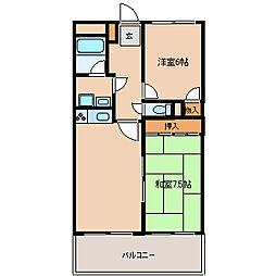 ソシア武庫川[3階]の間取り