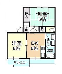 アビタシオンタカオ[2階]の間取り