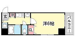 プレサンス神戸裁判所前[4階]の間取り