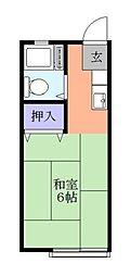 トミハイツ[2階]の間取り