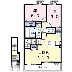 丸B[2階]の間取り