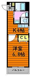 JR瀬戸大橋線 上の町駅 徒歩16分の賃貸アパート 1階1Kの間取り