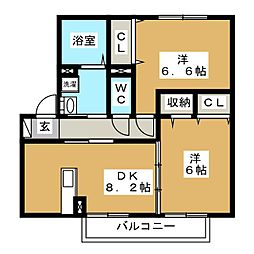 マノワール[1階]の間取り