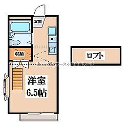フローラ若草[2階]の間取り