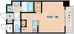 JR山陽本線 新長田駅 徒歩2分の賃貸マンション 7階ワンルームの間取り