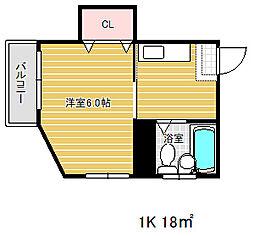 新井マンション[4階]の間取り