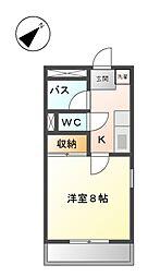 愛知県名古屋市天白区植田山1丁目の賃貸マンションの間取り