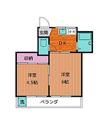 ドゥエル御園[2階]の間取り