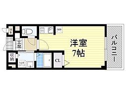大阪府摂津市新在家2丁目の賃貸アパートの間取り