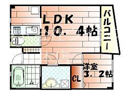 FORZA馬借[2階]の間取り