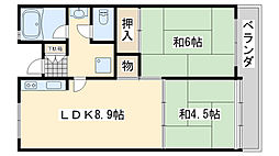佐野湊団地1号棟[516号室]の間取り