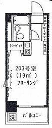 ハーベストハウス円山[203号室]の間取り