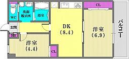 兵庫県神戸市兵庫区松本通6丁目の賃貸マンションの間取り