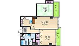 メゾンドール昭和[4階]の間取り