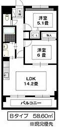 Sereno Hara[5階]の間取り