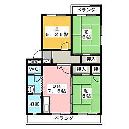 グリーンパレス[4階]の間取り