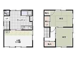 [一戸建] 神奈川県三浦市三崎2丁目 の賃貸【/】の間取り