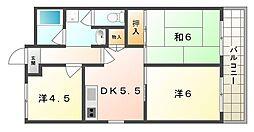 広陽ハイツ[3階]の間取り