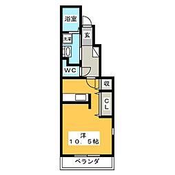 サニーヒル上見堂[1階]の間取り
