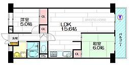 日商岩井緑地公園マンション[14階]の間取り