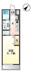袖ケ浦市代宿97番5他新築アパート[203号室]の間取り