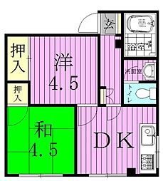 ユキハウス[4階]の間取り