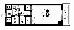 愛媛県松山市古川南3丁目の賃貸マンションの間取り