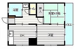 新庄アパート[3階]の間取り