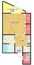 FLAT34福島[6階]の間取り