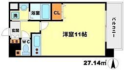 マリンズ江坂[5階]の間取り