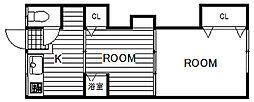 埼玉県草加市谷塚1丁目の賃貸アパートの間取り
