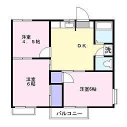 コーポウィ[2階]の間取り