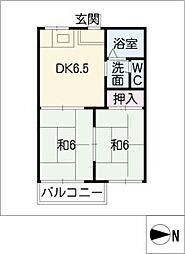 タウニー本郷[2階]の間取り