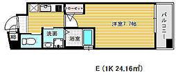 ワコーレヴィータ鷹取駅前[5階]の間取り