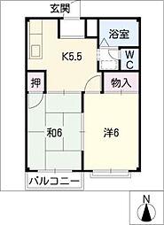 エルディムモラモラA棟[2階]の間取り