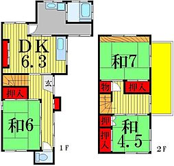 [一戸建] 東京都葛飾区青戸6丁目 の賃貸【/】の間取り